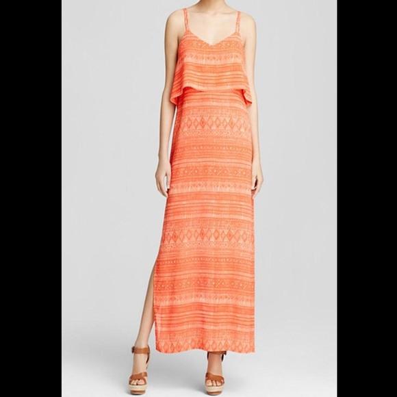 Sanctuary Dresses & Skirts - Sanctuary Orange Print Maxi Dress